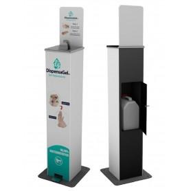 Máquina dispensadora de Gel Hidroalcohólico Para Garrafa de 5 Litros