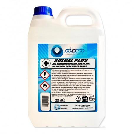 5 litros de Gel hidroalcohólico con alcohol al 70%