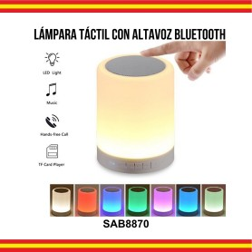 Altavoz Inalámbrico Bluetooth Manos Libres Luces LED USB MicroSD AUX