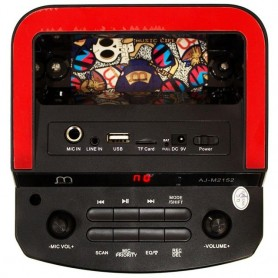 Altavoz Karaoke Bluetooth con Micrófono USB/Radio FM/ Tarjeta TF con Luz LED