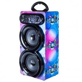 Altavoz Bluetooth Karaoke Portátil Inalámbrico con Micrófono 30W Radio FM/USB/ Tarjeta TF/AUX