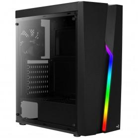 Aerocool BOLT, caja de PC, ATX, panel acrílico, RGB 13 modos, ventilador 12cm