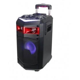 ALTAVOZ TROLLEY 60W CON RUEDAS PORTATIL ALTAVOCES USB BLUETOOTH KARAOKE LED
