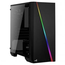 Aerocool CYLON Mini, Caja Gaming MicroATX, RGB 13 modos, Ventana Lateral Total Acrílico, Ventilador 80mm, USB 3.0