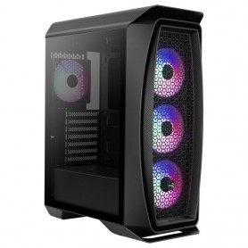 Aerocool AEROONEFROST, Caja PC ATX, Semitorre Gaming, Ventana Lateral Cristal Templado, 4x Ventiladores Fixed RGB 120mm