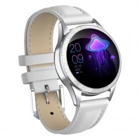 Reloj inteligente con pantalla completamente táctil para mujer con Monitor de ritmo cardíaco, llamadas, recordatorios