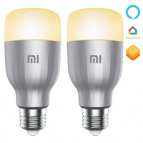 2 bombillas Mi LED Smart Bulb (White and Color 2-Pack), bombillas inteligentes