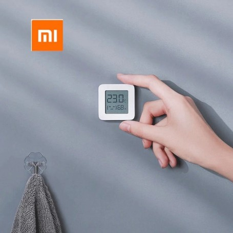 Xiaomi Mi Temperature and Humidity Monitor 2, termostato, monitor de temperatura y humedad inteligente, pantalla LCD Digital