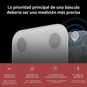 Xiaomi Mi Body Composition Scale 2, báscula inteligente, IMC, índice de grasa, masa ósea, metabolismo basal, grasa bisceral