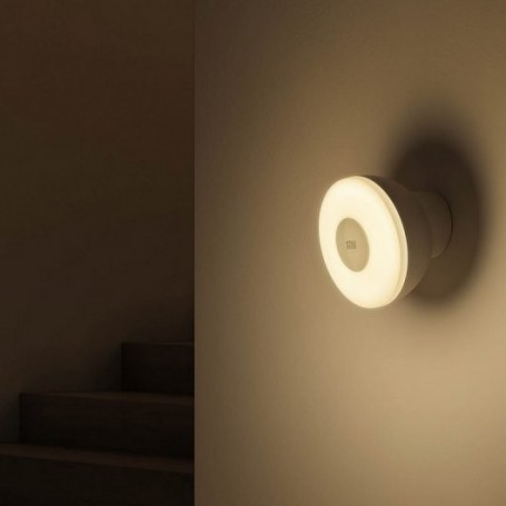 Xiaomi Mi Motion Activated Night Light 2, luz nocturna con sensor de movimiento , LED, brillo ajustable, detector cuerpo humano
