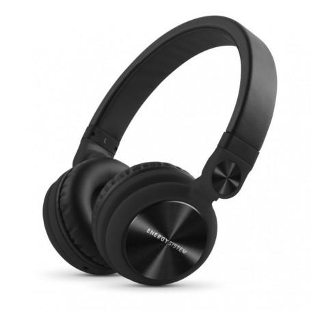 Energy Sistem Headphones DJ2(Auriculares Estilo DJ,Plegables,con rotación 180º,Cable extraíble,Mic,Manos Libres)Blanco,Negro