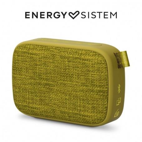 Energy Sistem Fabric Box 1+ Pocket Kiwi(Altavoz portatil, TWS, Bluetooth v5.0, 3 W, USB&microSD MP3, FM Radio, Audio-In) - Green