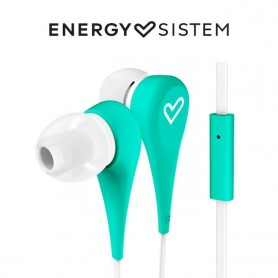 Energy Sistem Earphones Style 1+Auriculares intrauditivos, In-ear, Mic, Control talk, Cable plano 120cm Azul,Menta,Negro,Rojo