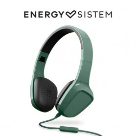 Energy Sistem Headphones 1 Mic (Auriculares con cable, No Bluetooth,Mic, Control Talk, Audio-In, Foldable), Amarillo, Verde