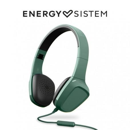 Energy Sistem Headphones 1 Mic (Auriculares con cable, No Bluetooth,Mic, Control Talk, Audio-In, Foldable), Amarillo, Verde