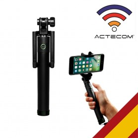 actecom Palo Selfie, Mini para Movil con Bluetooth y Control Remoto, Selfie Extensible para iPhone 11 Pro