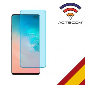 "ACTECOM CRISTAL VIDRIO TEMPLADO SAMSUNG GALAXY S10 PLUS ""NO covers BORDES"""
