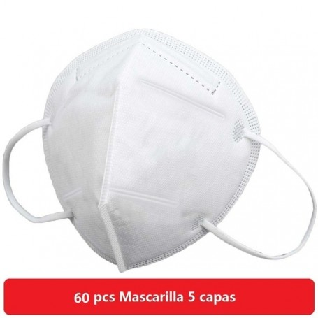 500 pcs Mascarilla facial desechable  3 capas homologada  antipolvo PM2.5 de seguridad antipolvo
