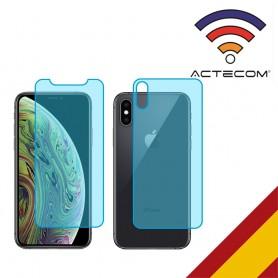"""ACTECOM CRISTAL TEMPLADO DOBLE 0,2 MM 9 H 2.5D PARA IPHONE Xs MAX 6,5 """"el DELANTERO Y TRASERO"""