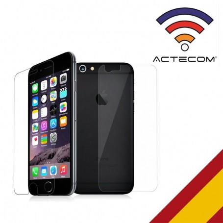 """ACTECOM-Cristal Templado de 0,2 MM 9H para iPhone 6S Plus / 6 Plus / 5,5 """"del Y Tras"""