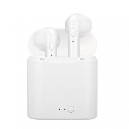 Auriculares inalámbricos TWS i7s por Bluetooth 5,0 | Auriculares deportivos con micrófono y caja de carga