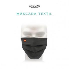 Máscara bandera de España bordada con goma, para tapar boca-nariz con filtro carbón activado pm2.5 y adaptador sujeta mascarilla