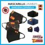 Mascarillas de tela lavables Bandera Española Mascarilla con o sin filtro PM2.5 para mujer y hombre