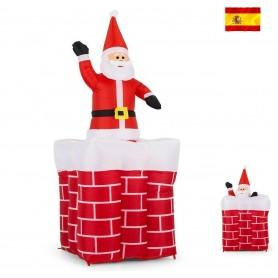Papá Noel, Papá Noel, campana hinchable, Decoración de Navidad, 1,8m de luz con motor