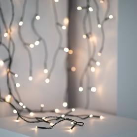 TECHBREY Cortina de Guirnaldas LED Regulable luces de hadas para decoración de navidad, bodas al aire libre blanco cálido