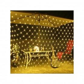 TECHBREY Malla LED 3.6W bajo consumo luces de hadas para decoración de navidad, bodas al aire libre blanco cálido