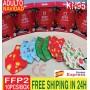 MASCARILLA FFP2 NAVIDAD para ADULTOS, 5 capas de filtración para el cuidado de la salud,95% (envío GRATIS 24H)