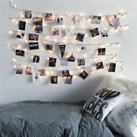 Guirnalda LED de Pinzas Cromada