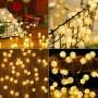 Guirnalda Luces LED Decoración de Árbol de Navidad Cadena de Luces Diferente Iluminación Función con USB / Pilas/ Solar
