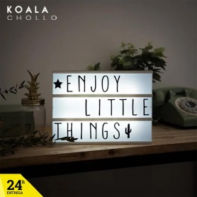 Lightbox Cinema con 90 Caracteres Letras Led
