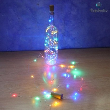 Regalantes, luces led para botellas, luces navidad, guirnalda luces, guirnalda luces exterior, luces para decorar botellas