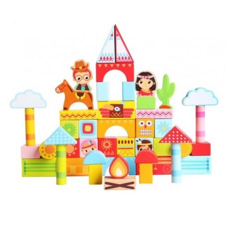 Bloques de construcción de madera 34pcs, 50pcs o 100pcs ( bloques de Animales, ciudad o zoo, juguete de construir niños)