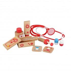 Kit del Doctor o enfermera de madera ( Maletín de médicos, maletín con accesorios de medicina para niños )