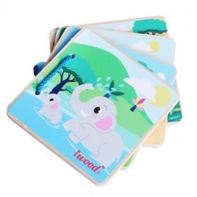 Libro de imágenes de madera ( juego educativo para bebés, aprendizaje vida real, libro de madera, libro educativo )