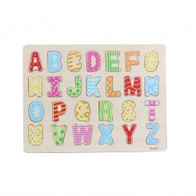 Puzzle de Letras de Madera ( juego educativo para bebes y para niños, montessori, puzzle 3D letras)