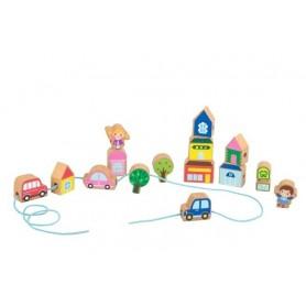 Abalorios de madera para niños ( piezas con cuerda, abalorios de madera para manualidades, montessori, manualidades niños )