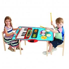 Manta interactiva musical: Mini Música para 2 (Alfombra musical - Piano y Batería 2 en 1 para bebés - Playmats)