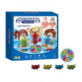 Juego de mesa: Ponte el Bigote ( juego para niños, consigue los bigotes del mismo color, contiene ruleta, moustache game )