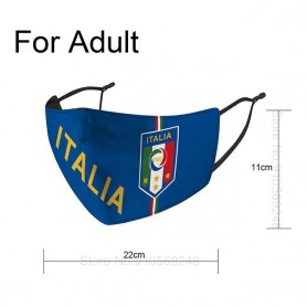 Mascarillas futboleras reutilizables con filtro PM2.5 de 5 capas para adulto, protector de fútbol antipolvo, higiene, equipo de