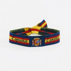 Pulsera Bandera de España para hombre y mujer Ajustable 17-24cm