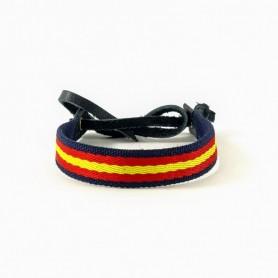 Pulsera de bandera de España para hombre  Ajustable 19-27 cm muñeca Patriota Española