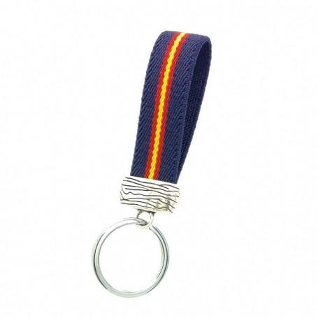 Llavero de bandera de España pulsera anilla para llaves y colgador hombre regalos originales pareja.