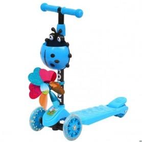 Scooter plegable y ajustable altura de 3 ruedas para niños de 3-8 años