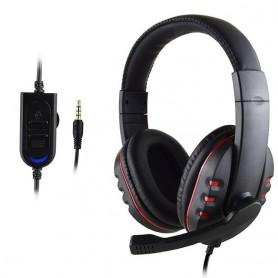 Auriculares estéreo para videojuegos, para Xbox One, PS4, PC, con cable, con micrófono